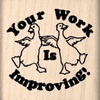 Your Work is Improving Teacher Rubber Stamp