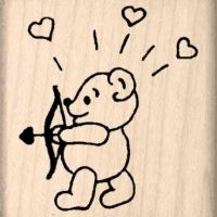 Cupid Bear Rubber Stamp