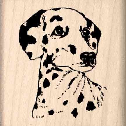 Dalmation Rubber Stamp