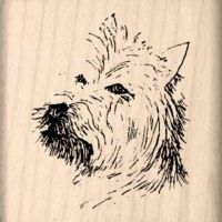 Westhighland Terrier Rubber Stamp