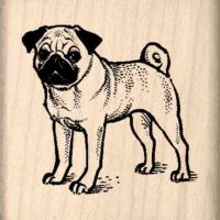 Pug Rubber Stamp
