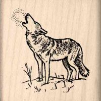 Wolf Rubber Stamp