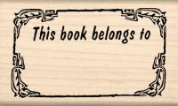 This Book Belongs to Teacher Rubber Stamp