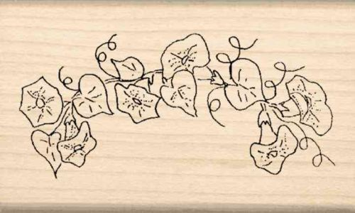 Flower Border Rubber Stamp