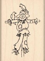 Scarecrow Rubber Stamp