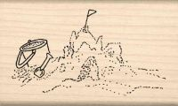 Sandcastle Rubber Stamp