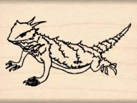 Horned Toad Rubber Stamp
