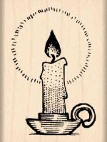 Candle Rubber Stamp