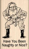 Have You Been Naughty or Nice? Rubber Stamp