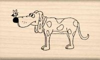 Dog With Bee Rubber Stamp