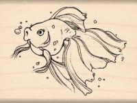 Goldfish Rubber Stamp