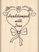 Handstamped With Love Rubber Stamp