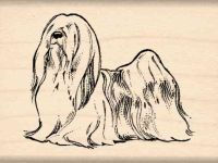 Lhasa Apso Rubber Stamp