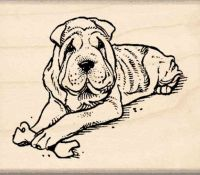 Chinese Shar-Pei Rubber Stamp