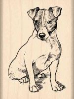 Jack Russell Terrier Rubber Stamp