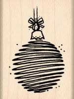 Scribble Ornament Rubber Stamp