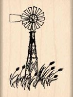 Windmill Rubber Stamp