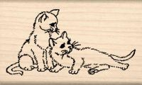 Cats Rubber Stamp