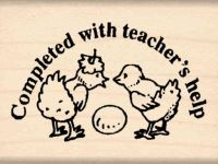 Completed With Teacher's Help Rubber Stamp