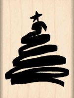 Scribble Tree Rubber Stamp