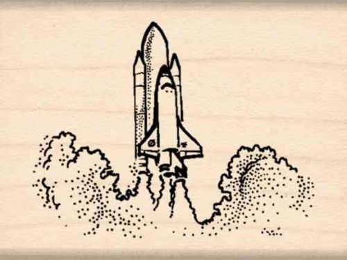 Space Shuttle Rubber Stamp