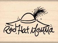 Red Hat Momma Rubber Stamp