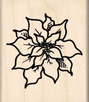 Poinsettia Rubber Stamp