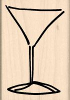 Martini Rubber Stamp