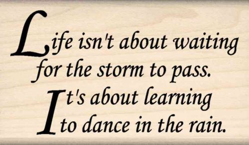 Life Isn't About... Life Quote Rubber Stamp