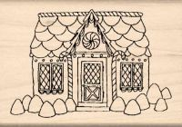 Gingerbread Candy House Rubber Stamp