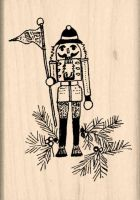 Toy Soldier Rubber Stamp