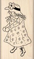 Doll Rubber Stamp