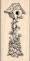 Birdhouse Rubber Stamp