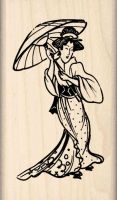Japanese Woman Rubber Stamp