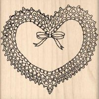 Heart Rubber Stamp