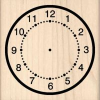 Clock Rubber Stamp