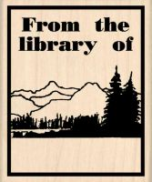 From the Library of: Bookplate Rubber Stamp