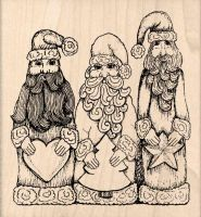 Three Wise Men Christmas Rubber Stamp