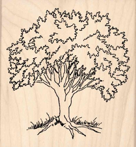 Tree Rubber Stamp