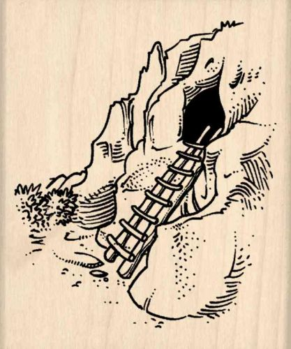 Cave Rubber Stamp