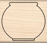 Fish Bowl Rubber Stamp