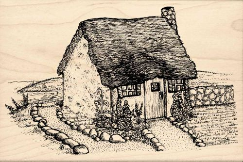 Cottage Rubber Stamp