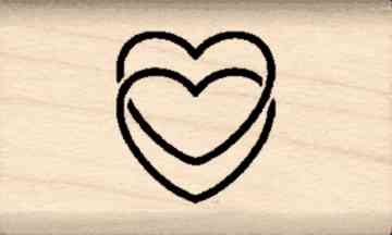 Ring Hearts Rubber Stamp