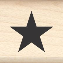 Star Little Rubber Stamp