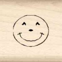 Smile Little Rubber Stamp