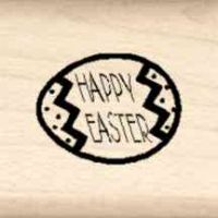 Happy Easter Little Rubber Stamp