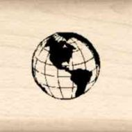 Globe Little Rubber Stamp