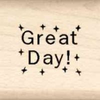 Great Day Little Rubber Stamp