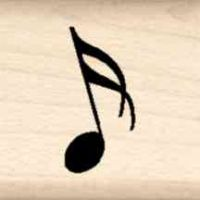 Music Note Little Rubber Stamp