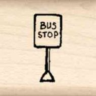 Bus Stop Little Rubber Stamp